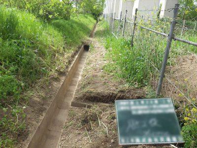排水溝土砂浚渫工事